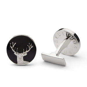 Skultuna Cuff Links Hunter Dear - Silver and Black