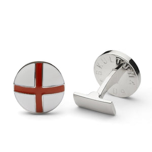Skultuna Cuff Links St George - Silver and Red