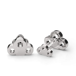Skultuna Cuff Links The Key- Silver Plated
