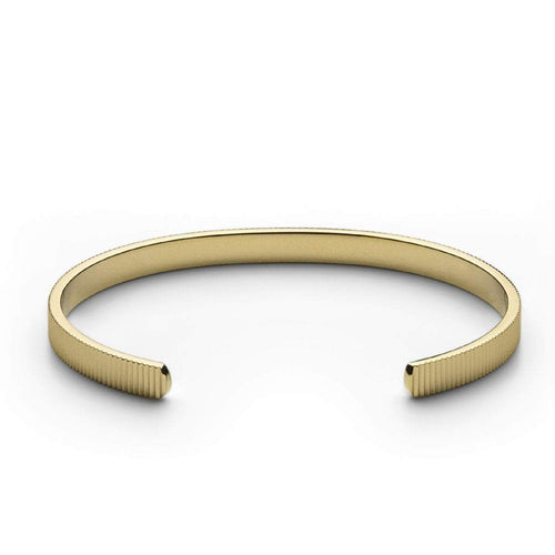 Ribbed Cuff Thin Gold Plated