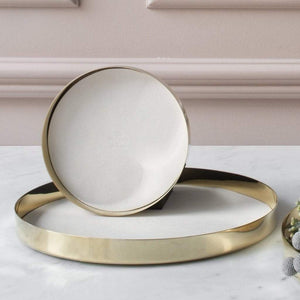 Skultuna Karui Brass Tray with White Leather Insert- Small