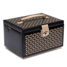 Load image into Gallery viewer, Wolf1834 Jewellery WOLF Chloé Medium Leather Jewellery Box - Black