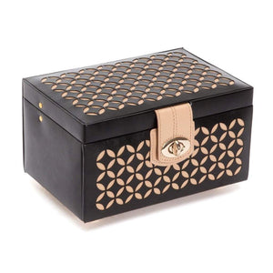WOLF Chloé Small Leather Jewellery Box - Black