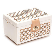Load image into Gallery viewer, Wolf1834 Jewellery WOLF Chloé Small Leather Jewellery Box - Cream