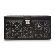 Load image into Gallery viewer, Wolf1834 Jewellery WOLF Marrakesh Large Leather Jewellery Box - Black