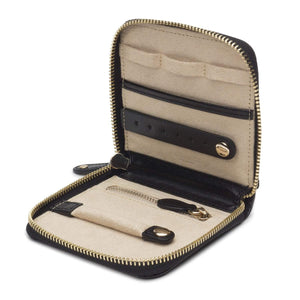 WOLF Marrakesh Leather Travel Case - Black
