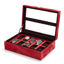 Load image into Gallery viewer, Wolf1834 Jewellery WOLF Memento Mori 10pc Watch Box - Red