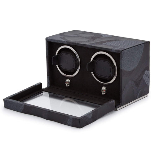 WOLF Memento Mori Double Cub Watch Winder - Black