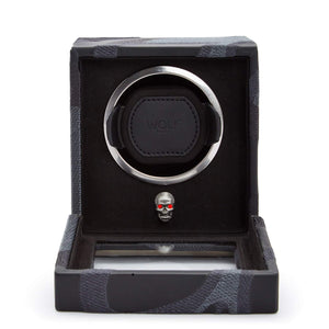 WOLF Memento Mori Single Cub Watch Winder - Black