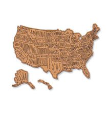 USA Corkboard Map