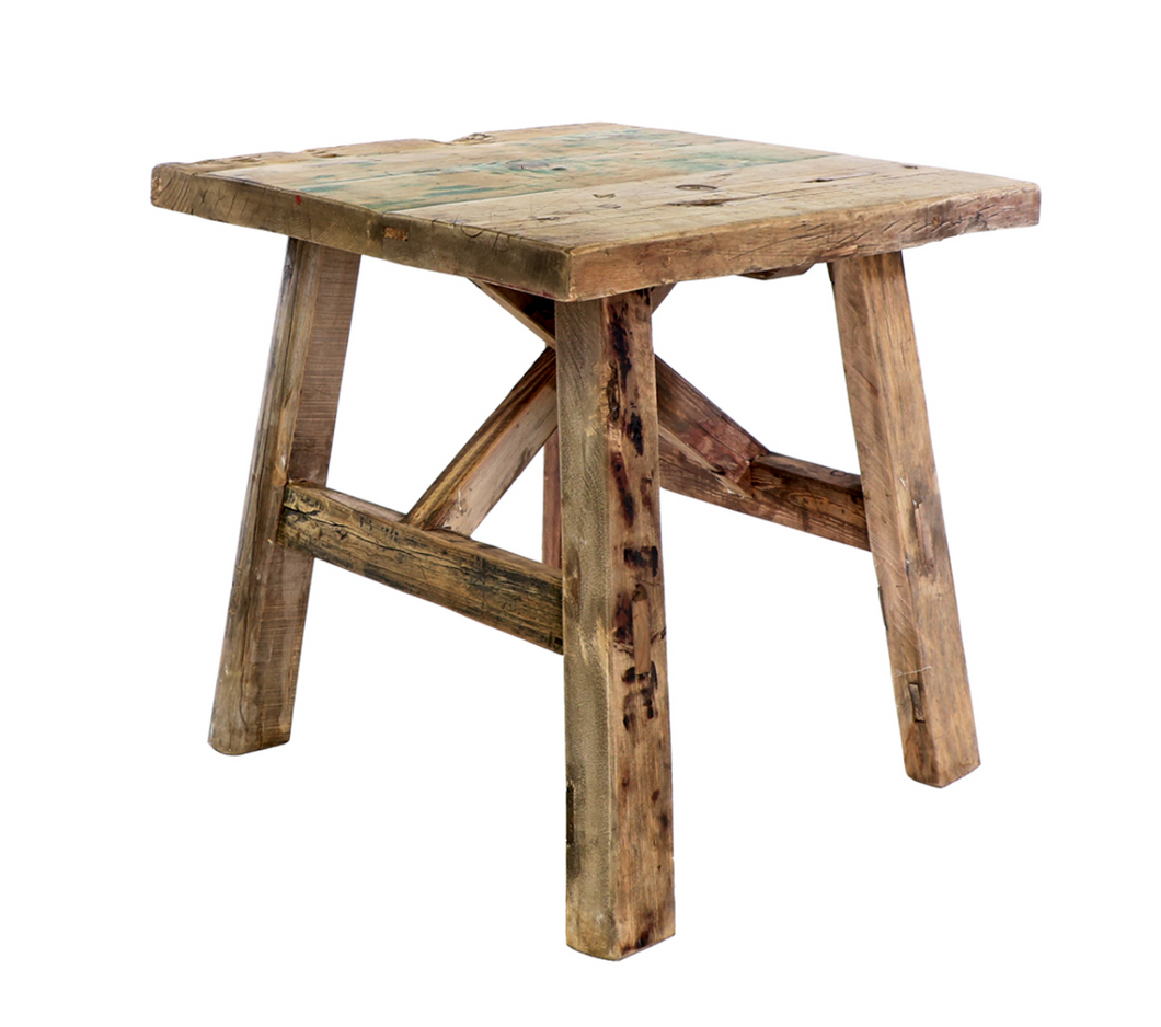 Elm Side Table, Square