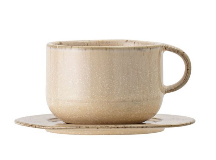 Stoneware Cup w/ Saucer