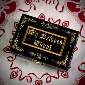 My Beloved Ghoul Gold Trinket Box