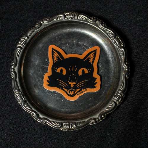 Black Cat - Trick or Treat Sticker