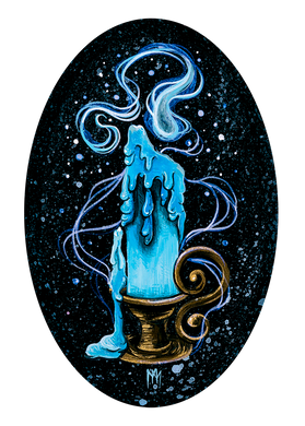 Blue Ghost Candle Giclee Print