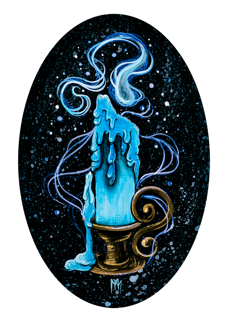 Blue Ghost Candle Print