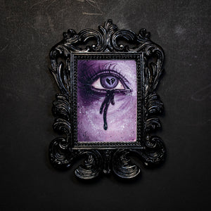 Heart Broken Lover's Eye - Purple Small Framed Print