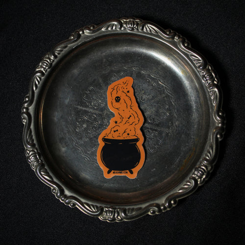 Bubbling Cauldron - Trick or Treat Sticker