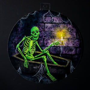 Creeping Skeleton Halloween Decoration - Print