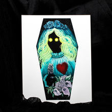 Round Eyes Coffin Wood Mounted Giclee Print