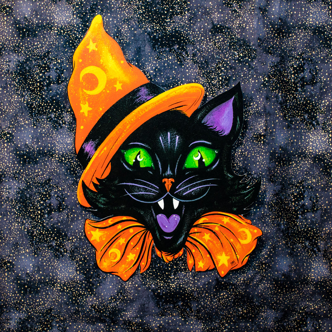 Halloween Party Cat Decoration - Print
