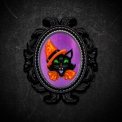 Halloween Party Cat Framed Print