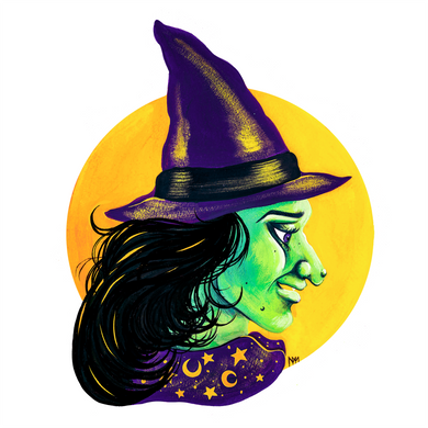 Halloween Witch Original Painting