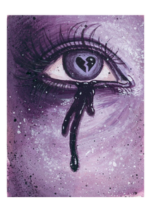 Heart Broken Lover's Eye - Purple Giclee Print