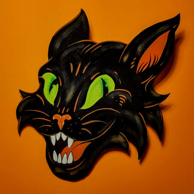 Sassy Cat Halloween Decoration - Print