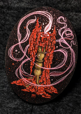 ORIGINAL Red Candle Magick Painting