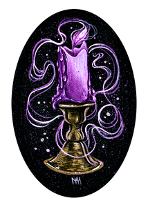 Purple Candle Print