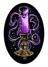 Purple Ghost Candle Original