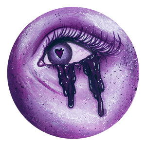 Smitten Lover's Eye - Purple Giclee Print
