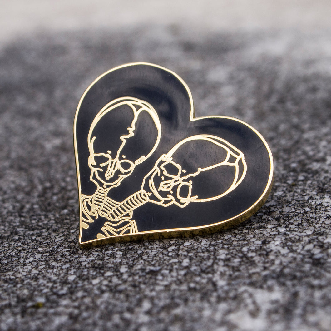 Together Forever Enamel Pin - Gold