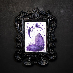 Purple Tomb of Love Framed Print