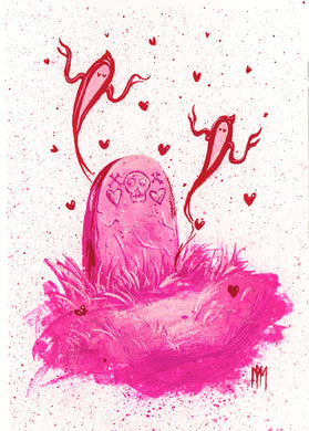 Pink Tomb of Love Giclee Print