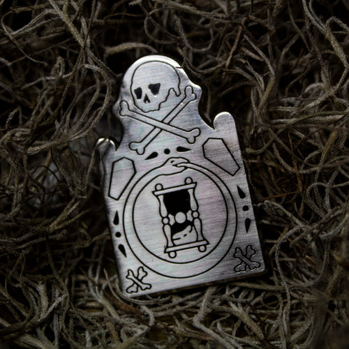 Mors Certa Tombstone Pin