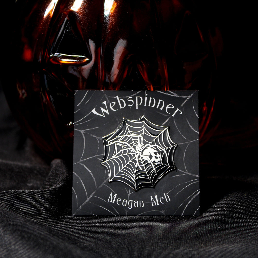 Webspinner Enamel Pin