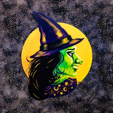 Halloween Witch Decoration - Print