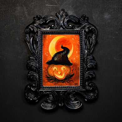 Pumpkin Witch Framed Print
