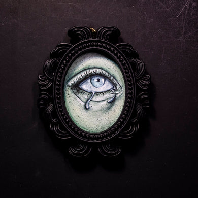 Ghostly Eye 3 Small Framed Print