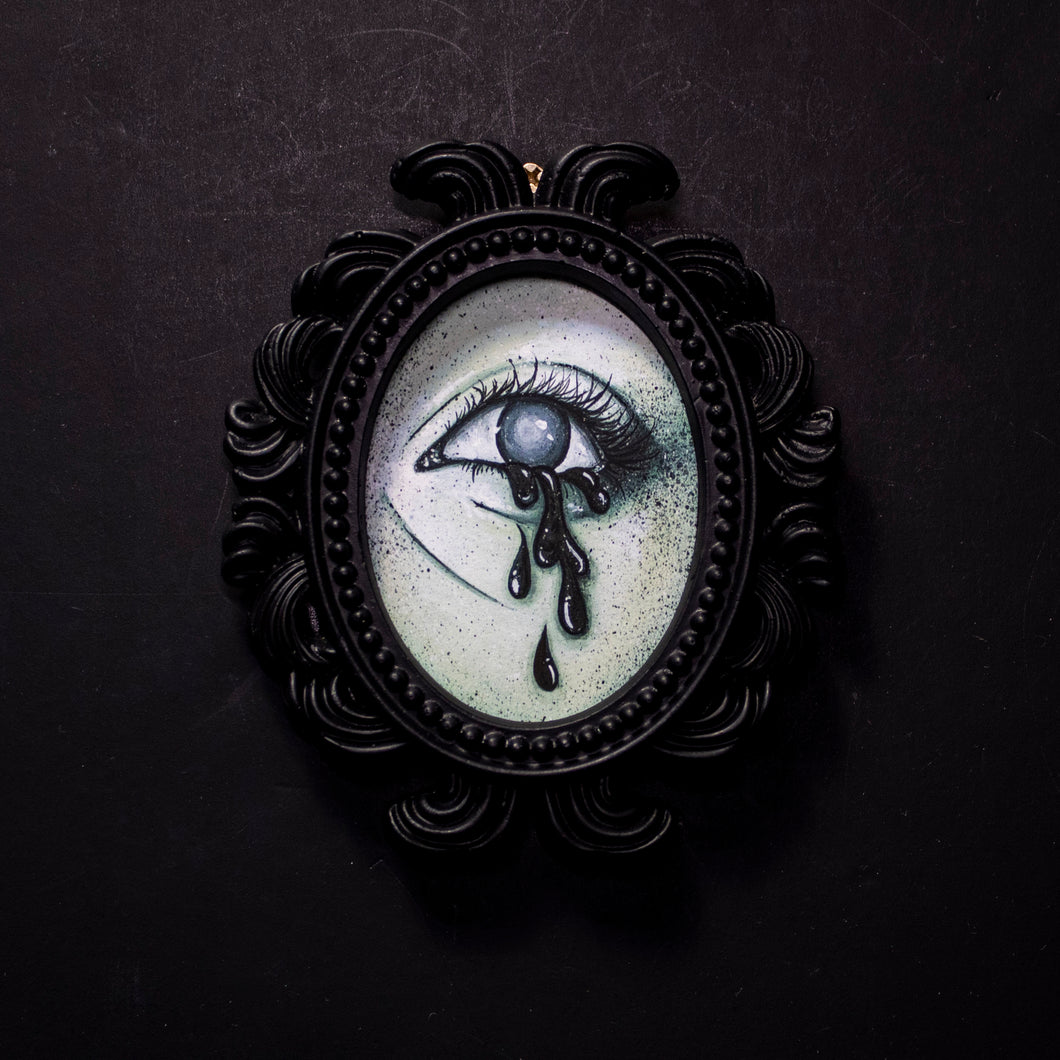 Ghostly Eye 5 Small Framed Print