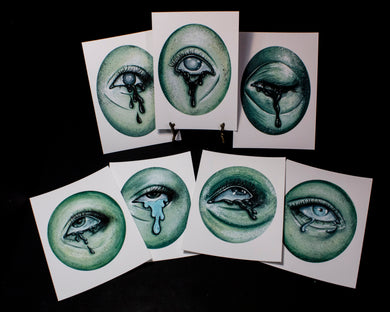 Full Set of Ghostly Eye Giclees