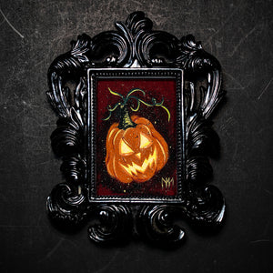 Glowing Pumpkin Framed Print