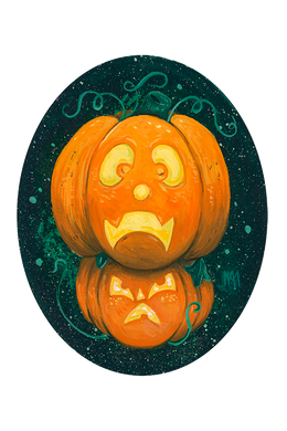 Stacked Pumpkin Giclee Print
