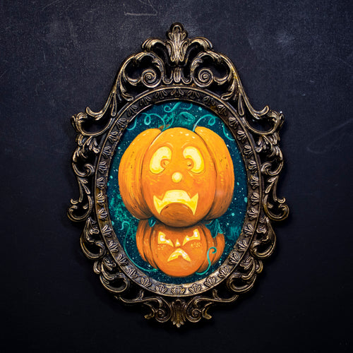 Stacked Pumpkin Original Art
