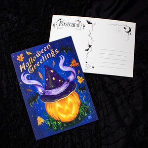 Halloween Greetings Postcard - PACK OF 5