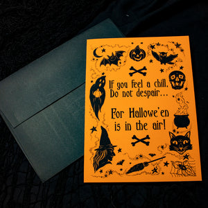 Halloween Is In the Air - Greeting Card PACK OF 5