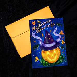 Halloween Greetings - Greeting Card