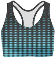 Blue Dots Sports Bra-WELLNESS HEAVENS